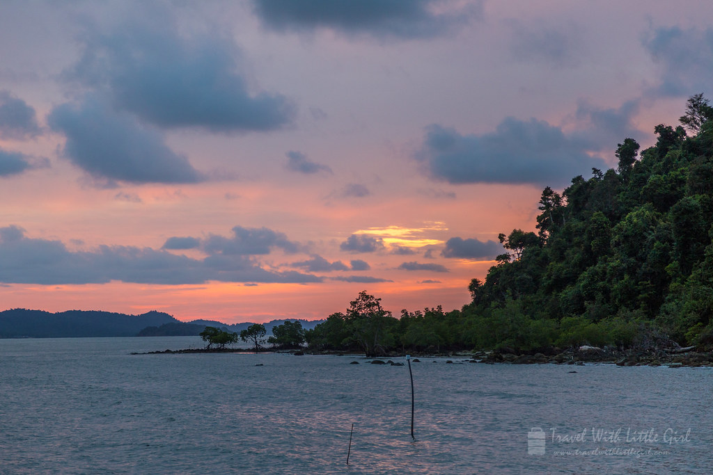 Sunset at Telunas Beach Resort