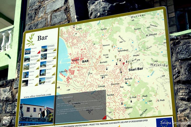 Карта перед Домом маслин
