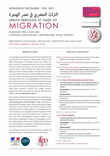 Programme :  Urban Heritage at Times of Migration