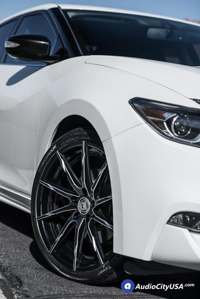 "07 Nissan Maxima >> 2016 Nissan Maxima   20"" Lexani Wheels CSS 15 Gloss Black milled accents Staggered   Hankook ..."