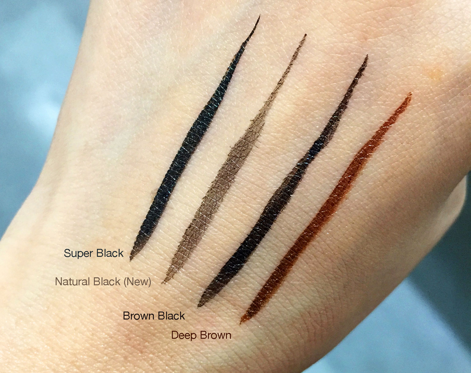 14.5 KPalette 1 day tatoo Real lasting Eyeliner REformulated Swatches - Gen-zel She Sings Beauty