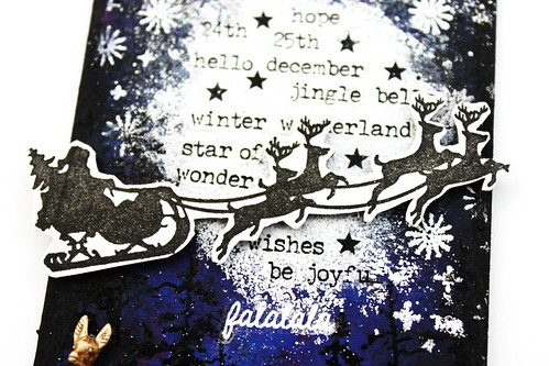 Meihsia Liu Simply Paper Crafts Mixed Media Tag Christmas Night Star Simon Says Stamp Tim Holtz 4