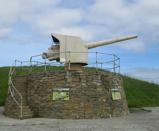 Naval Gun , Lyness Naval Museum, Hoy