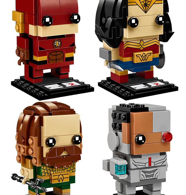 「你不能獨自拯救世界」所以當然是整套收集啊~LEGO 41598~41601 BrickHeadz 系列 正義聯盟【閃電俠、神力女超人、水行俠、鋼骨】The Flash、Wonder Woman、Aquaman、Cyborg