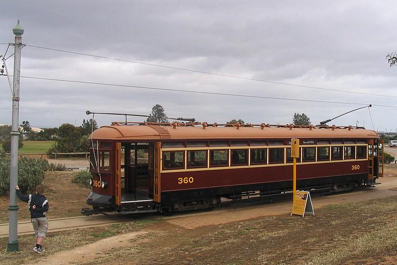 Adelaide tram at St Kilda tram museum near Adelaide, 2007