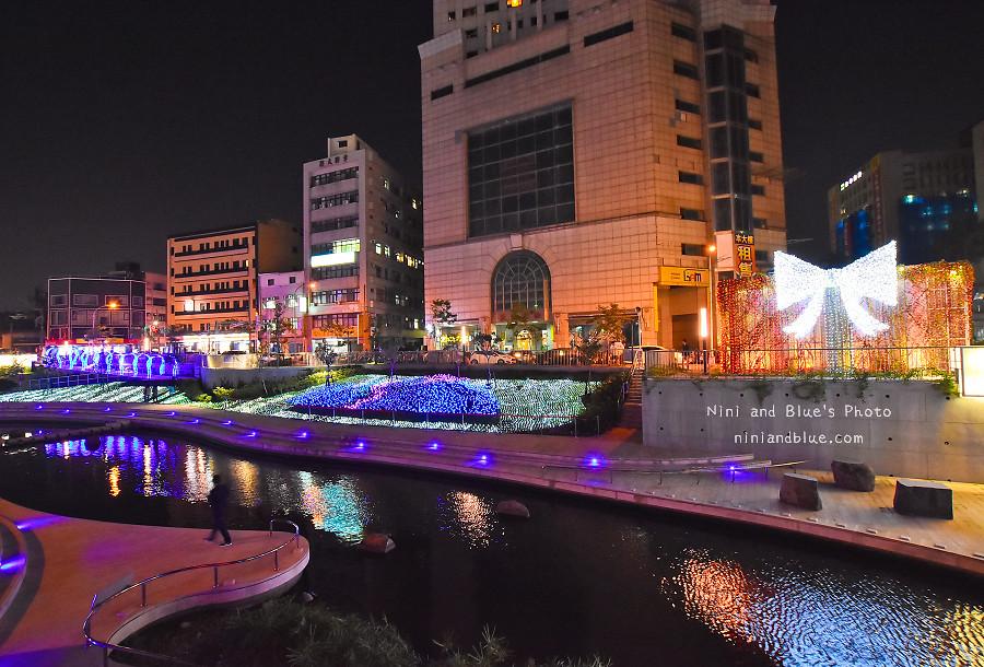 柳川藍帶水岸.聖誕節.台中景點09