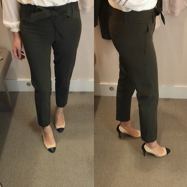 LOFT Slim Tie Waist Custom Stretch Pants in Marisa Fit, size 00/24P