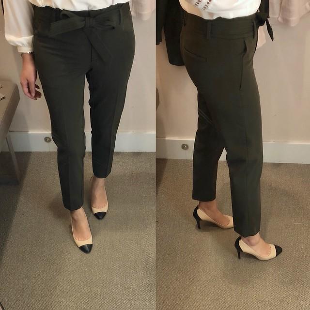 LOFT Slim Tie Waist Custom Stretch Pants in Marisa Fit, size 00/24P