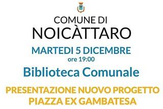 Noicattaro. Presentazione progetto piazza Ex Gambatesa front