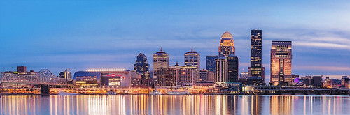 louisville downtown city cityscape kentucky skyline indiana ohio river buildings kfc yum center