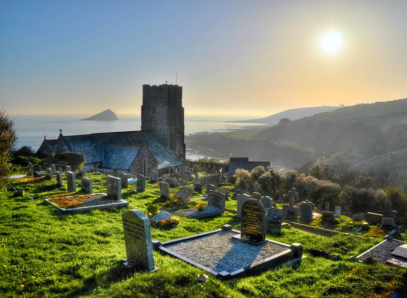 Church of St Werburgh at Wembury, Devon. Credit Baz Richardson