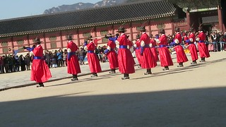 Changing of the guards at Gyeongbokgung Palace