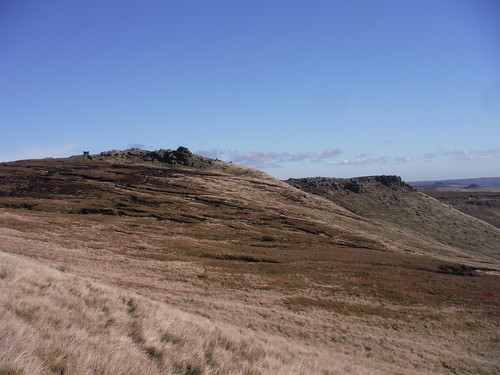 Pym Chair Rock Formation (Pym Chair on far left) and edge at Woll Packs