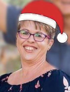 Jean in Santa hat