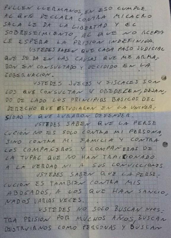 Carta Milagro 2