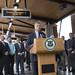 State Representative Craig Fishbein (R-90) joined fellow Wallingford residents, and local and state officials for the grand opening of the new Wallingford train station, which officials proudly announced as on schedule and on budget.  The first station to be opened as part of the CTrail Hartford Line is located at 343 North Cherry Street and features overhead canopies to protect riders from the elements, a pedestrian bridge over the tracks for safe crossing to north or southbound trains, bike racks and sign and information components to assist travelers, among other amenities. There are also two separate parking lots with 221 spaces close to the station.