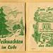 Heftchen mit Weihnachtsliedern als Werbegeschenk der Puddingpulverfirma Polak by altpapiersammler