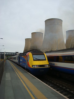 Class 43 number 43060 on the rear of a northbound service at East Midlands Parkway station