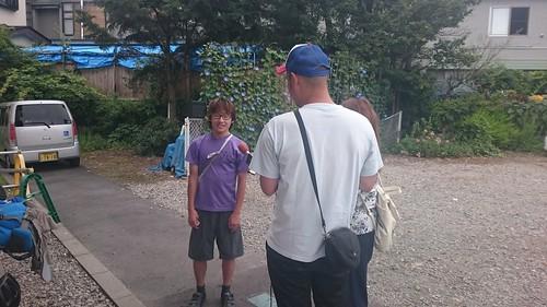 その後気づいて8km登り返して合流。小林さんが月曜から夜更かしのインタビュー受けてて笑った。