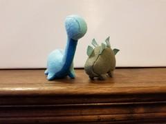 Felt Dinosaurs set #3 - Blues/Green