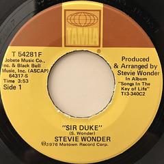 STEVIE WONDER:SIR DUKE(LABEL SIDE-A)
