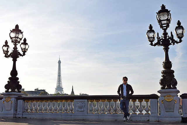 Self-portrait at Pont Alexandre III