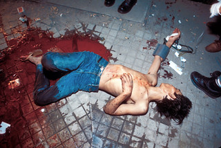 A terrorist attack in Phnom Penh before the election left a Vietnamese man wounded.