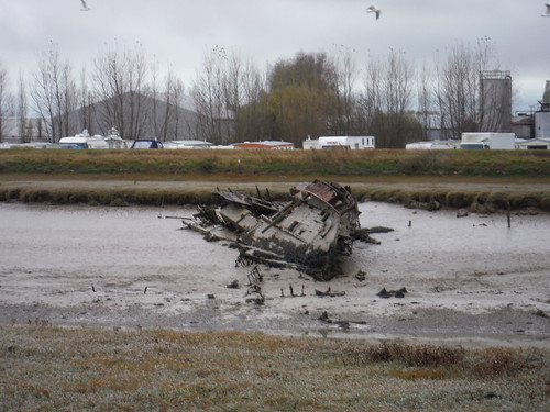 Wrecked Boat, River Rother