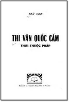 Thi Văn Quốc Cấm Thời Pháp Thuộc - Thái Bạch