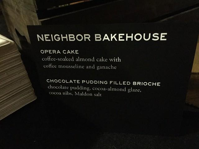 Neighbor Bakehouse - Menu