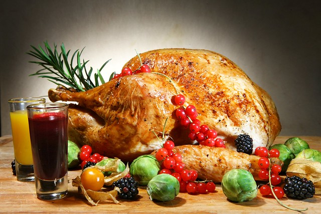 Traditional Roasted Turkey With Rosemary Herbs