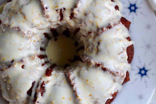 Apple Orange Rye Honey Cake - 20