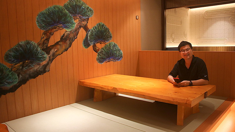 Tatami seating area!