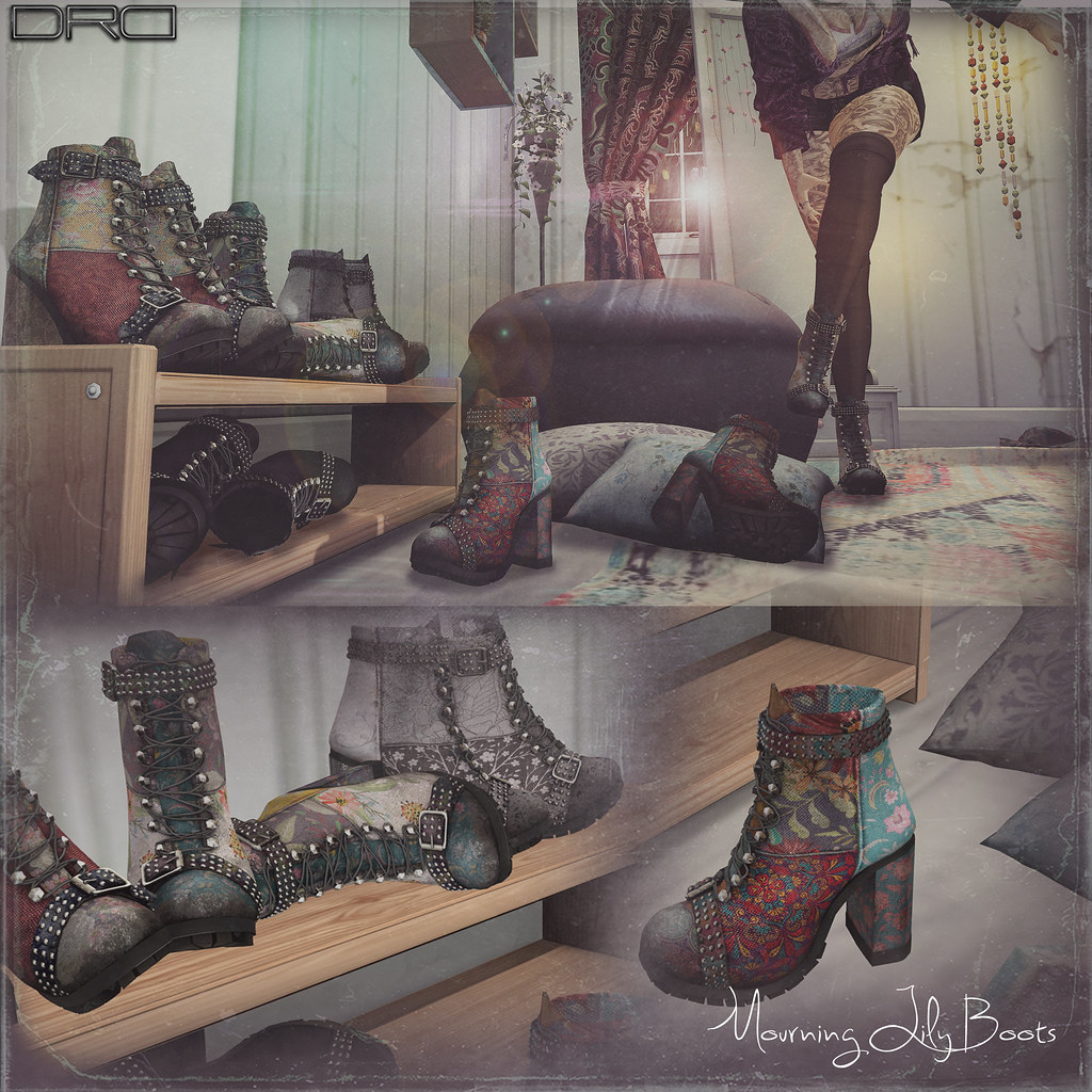 DRD mourning lilly boots