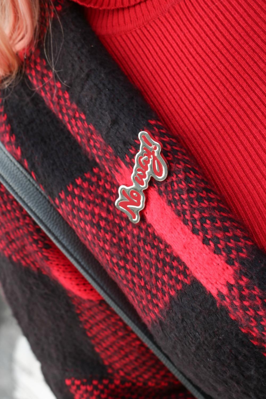 Outfit plus Kik, scozzese rosso e grigio (8)