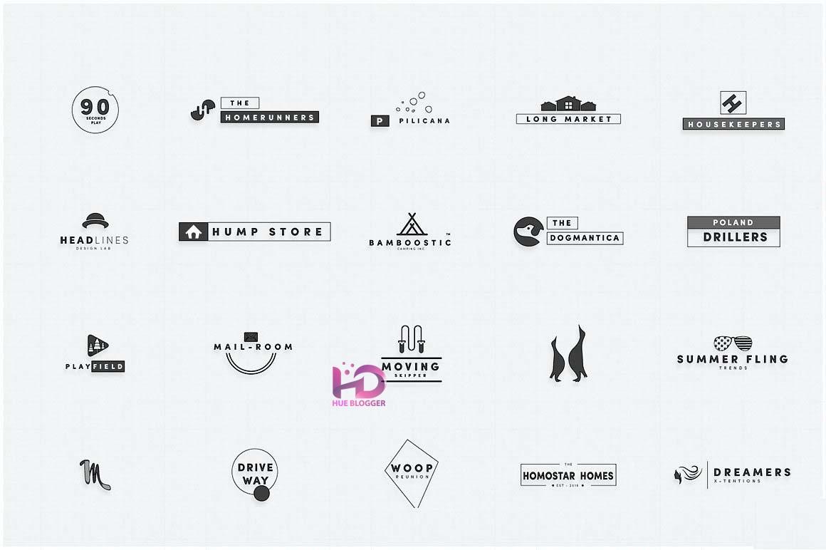 300+ Vector thiết kế logo nhiều chủ đề