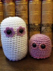 'Lil Blob Set #9 - Sparkley White and Mauve