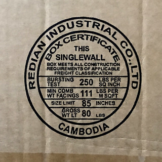 Redian Industrial Box Certificate