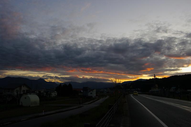 バイパスで見た夕焼け_201710