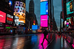 early lights in times square