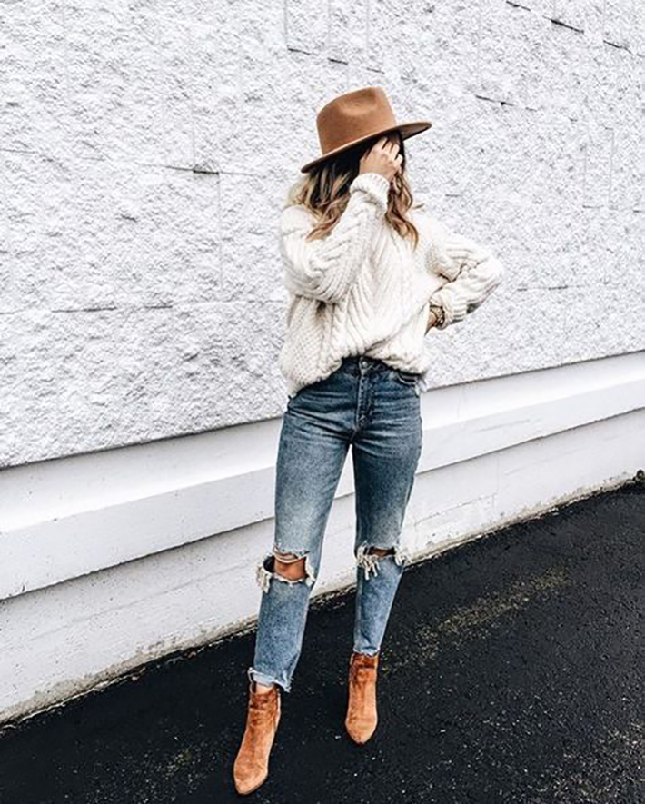 sweaters autumn outfits street style inspiration trend style outfit 2017 inspo1