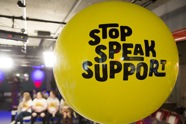 Evento de lanzamiento de Stop Speak Support