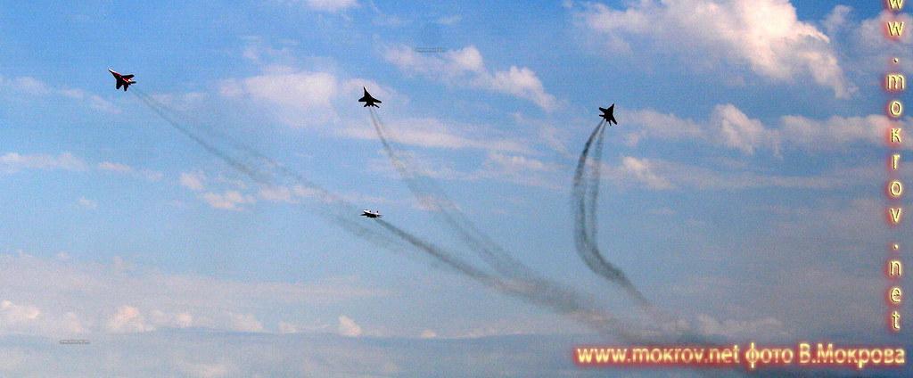 Роспуск - Высший пилотаж группы самолетов из четырех МиГ-29.