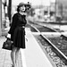 Jennifer Clark at the train station by Mitch Tillison Photography