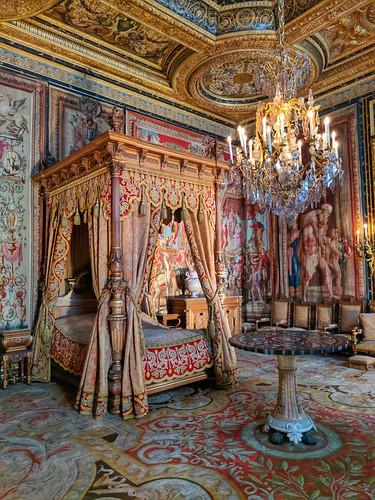 Bedchamber for Anne of Austria @ Château de Fontainebleau
