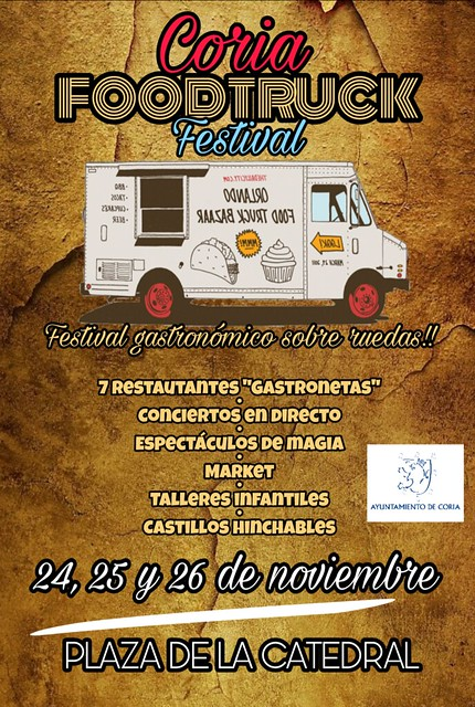 Este fin de semana se celebra el I Food Truck Festival en la Plaza de la Catedral de Coria