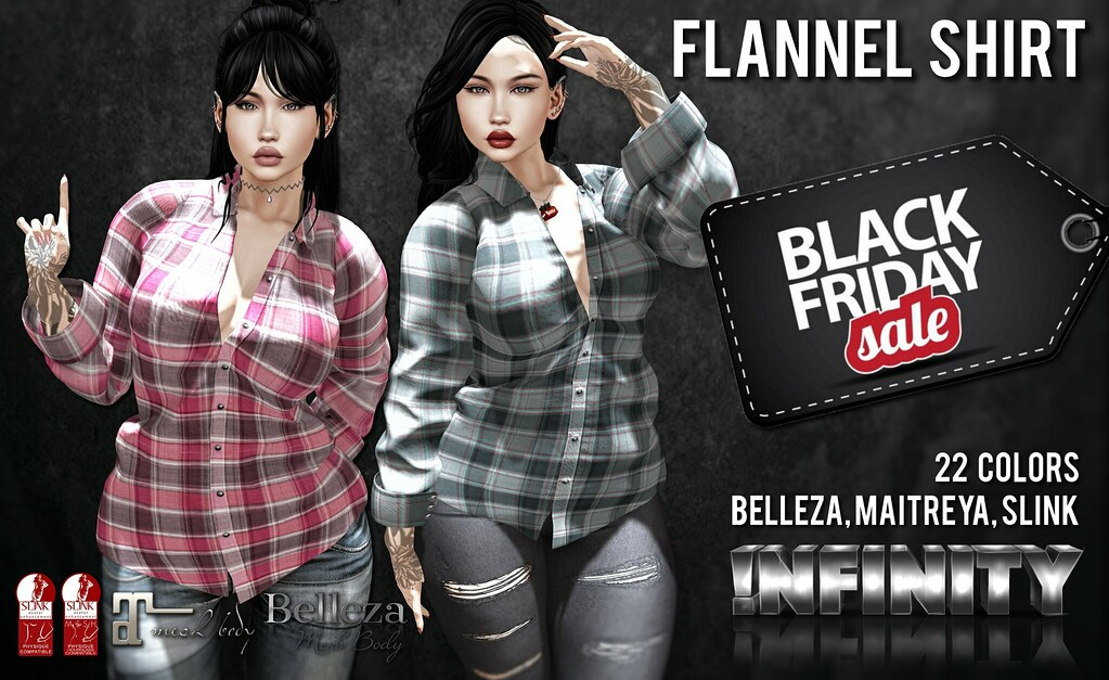 !NFINITY Flannel Shirts @ Black Friday!!