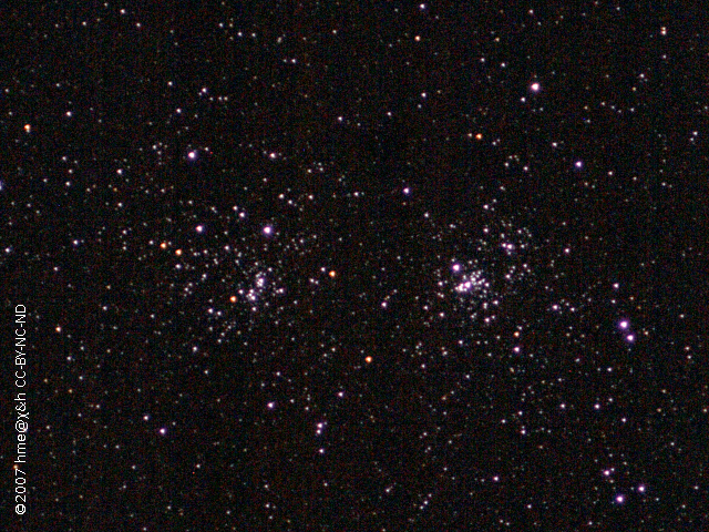 double star cluster chi and h Persei
