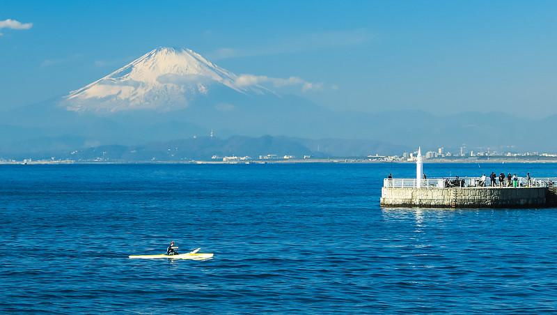 富士山 江の島 秋 鎌倉
