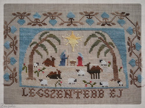 homespun elegance, cross stitch, christmas, holiest of nights (2)